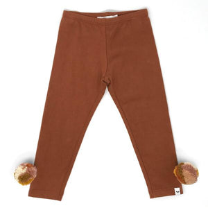 oh baby! Legging with Blush Multi Yarn Pom - Rust