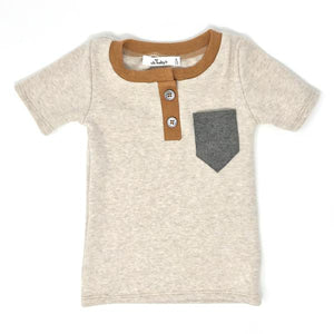 oh baby! Scout Henley Tee - Sand