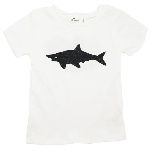 oh baby! Short Sleeve Shark Pepper Tri-Blend Perfect Tee - Cream