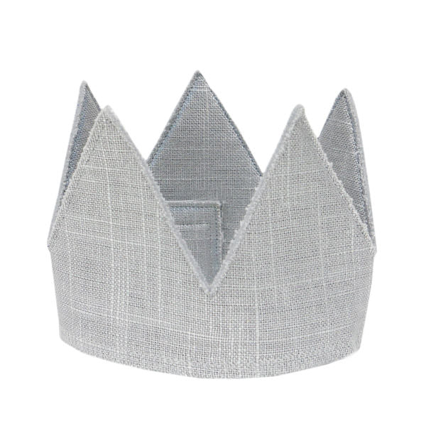 oh baby! Metallic Linen Crown - Silver