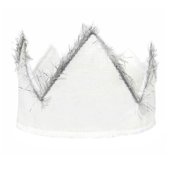 oh baby! Oyster Linen Crown with Silver Trim - Infant