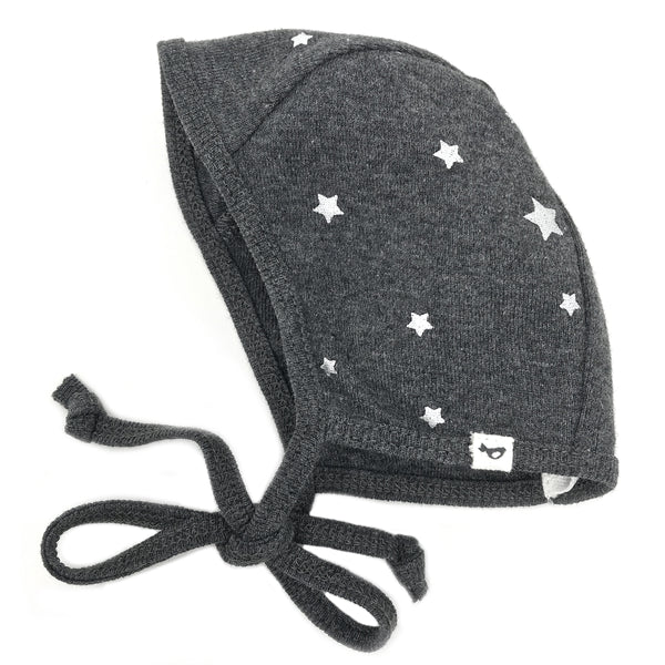 oh baby! Pilot Cap - Silver Stars - Charcoal