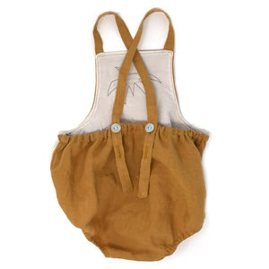 oh baby! Skye Strawberry Romper - Butterscotch