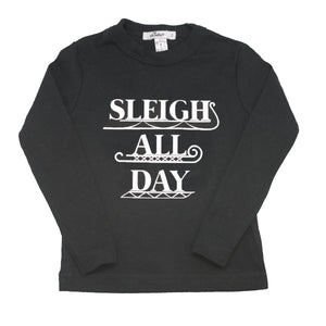 oh baby! Long Sleeve Tee - Sleigh All Day - Black