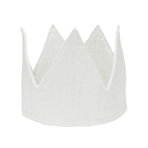 oh baby! Metallic Linen Crown - Snow