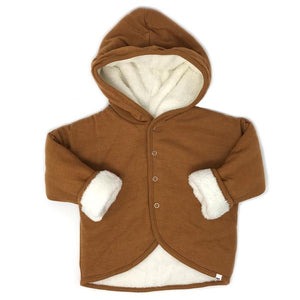 oh baby! Winter Snowdrift Infant Hoodie, Caramel