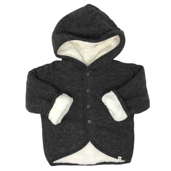 oh baby! Winter Snowdrift Infant Hoodie, Charcoal
