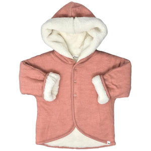 oh baby! Winter Snowdrift Infant Hoodie, Rose
