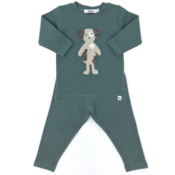 oh baby! Two Piece Set - Ragdoll Spot Dog - Sea