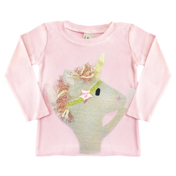 oh baby! Long Sleeve Top - Star Unicorn - Pink - oh baby!