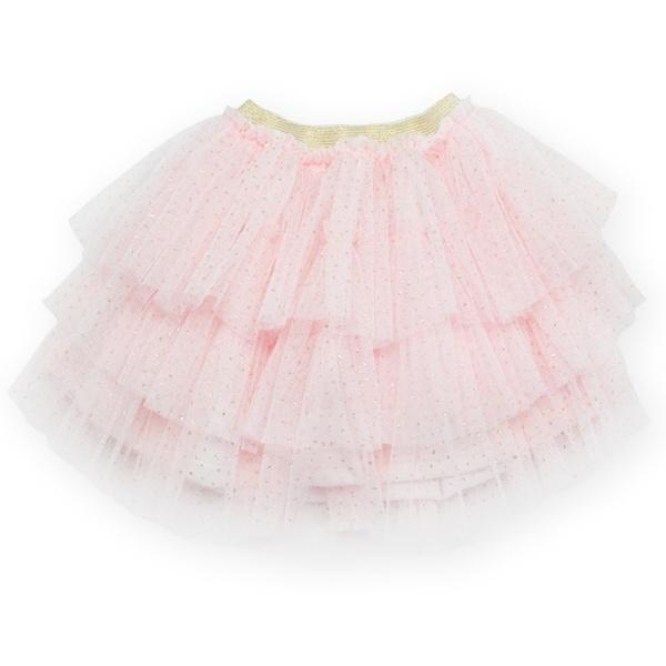 oh baby! Glinda Stardust Skirt - Light Pink/Gold