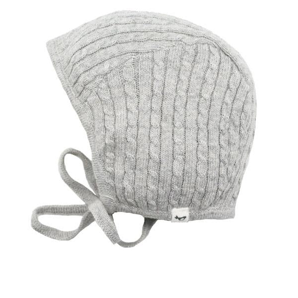 oh baby! Cable Knit Pilot Cap - Stone