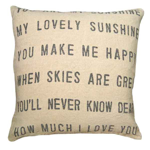 Sugarboo You Are My Sunshine Pillow