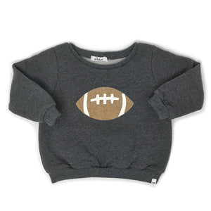 oh baby! Football Brooklyn Boxy Sweatshirt - Charcoal
