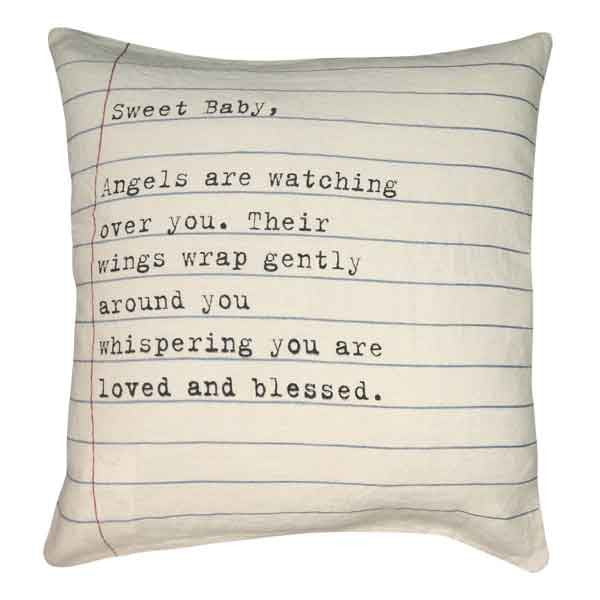 Sugarboo Sweet Baby Letter Pillow