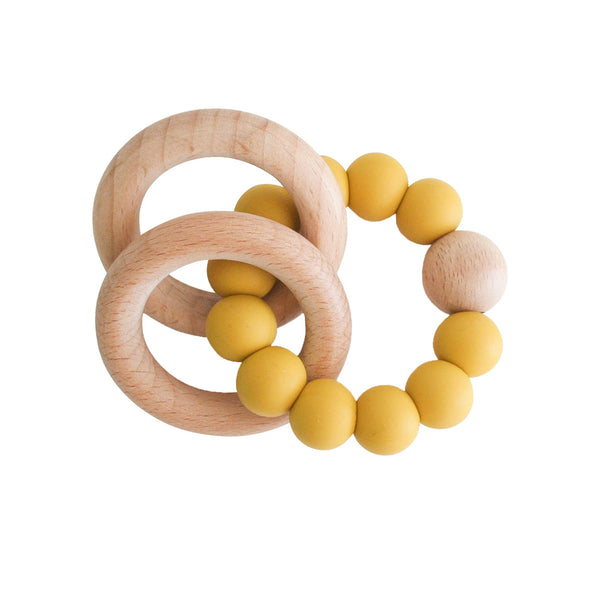 Alimrose Beechwood Teether Rings Set - Butterscotch