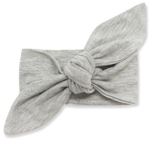 oh baby! Tie Turban Bamboo Headband - Heather Gray