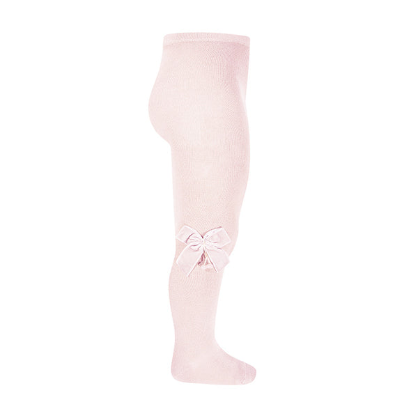 Condor Tights with Velvet Bow - Pink - oh baby!