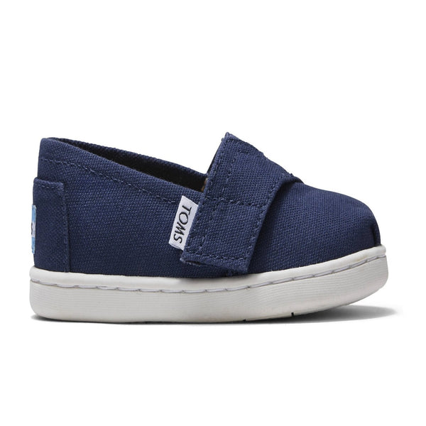 TOMS Classic Tiny Alpargata Infant Toddler Shoes - Navy Canvas