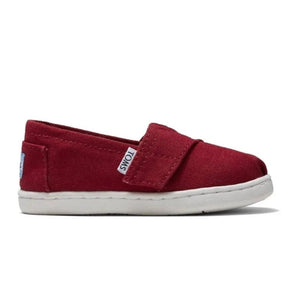TOMS Classic Tiny Alpargata Infant Toddler Shoes - Red Canvas