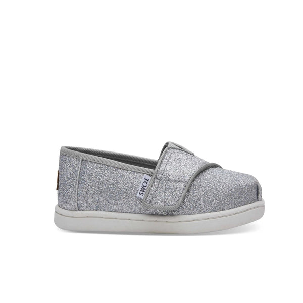 TOMS Classic  Tiny Alpargata Infant Toddler Shoes - Silver Glimmer