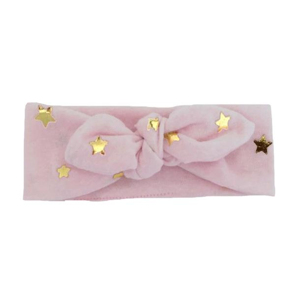 oh baby! Tie Turban Mini GF Stars - Blush