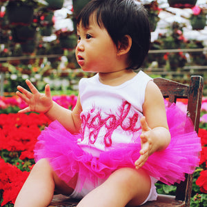 oh baby! Sparkle Reversible Tutu - Fuchsia and Lilac