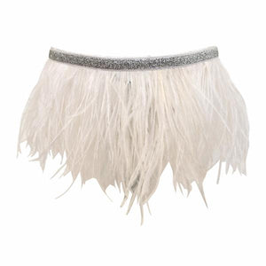oh baby! Tutu Topper Silver Band - White