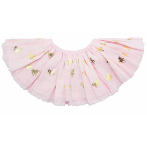 oh baby! Fairy Skirt - Printed All Over Unicorns Gold Foil - Pale Pink