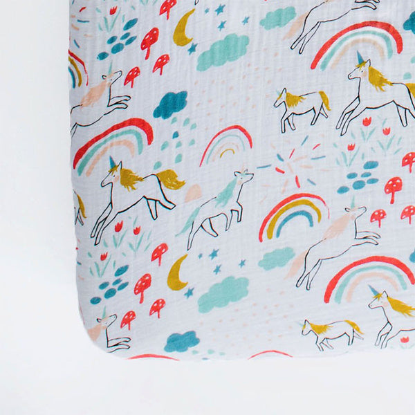 Clementine Kids - Crib Sheet - Unicorn Land - oh baby!