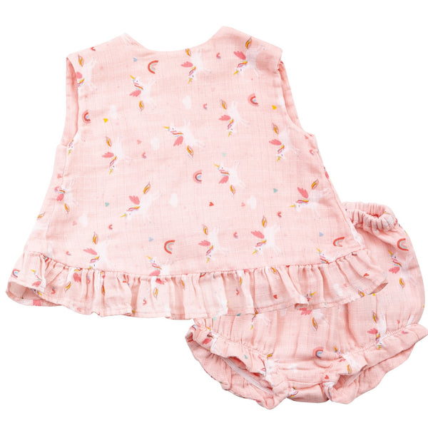 Angel Dear Unicorns Ruffle Top and Bloomer Set
