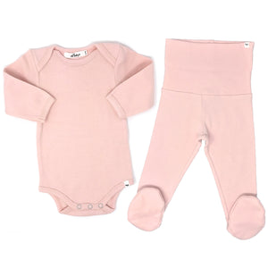 oh baby! 2pc Footie Set - Pale Pink