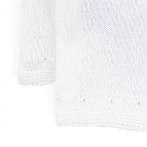 Cashmere Knitted Sweater Front Buttons - Off White