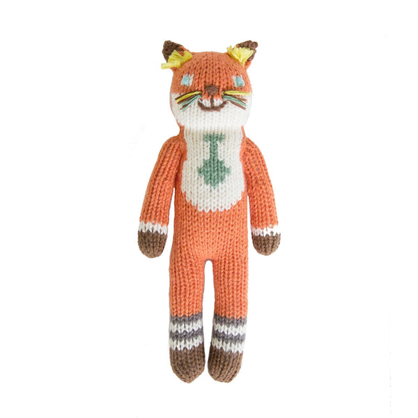 Blabla Knit Doll, Socks the Fox - Rattle