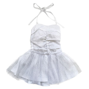 oh baby! Glinda Sweetheart Dress - White/Silver-Oyster