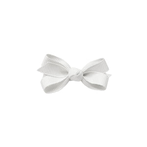 oh baby! Grosgrain Small Ribbon Bow Hair Clip - White - oh baby!