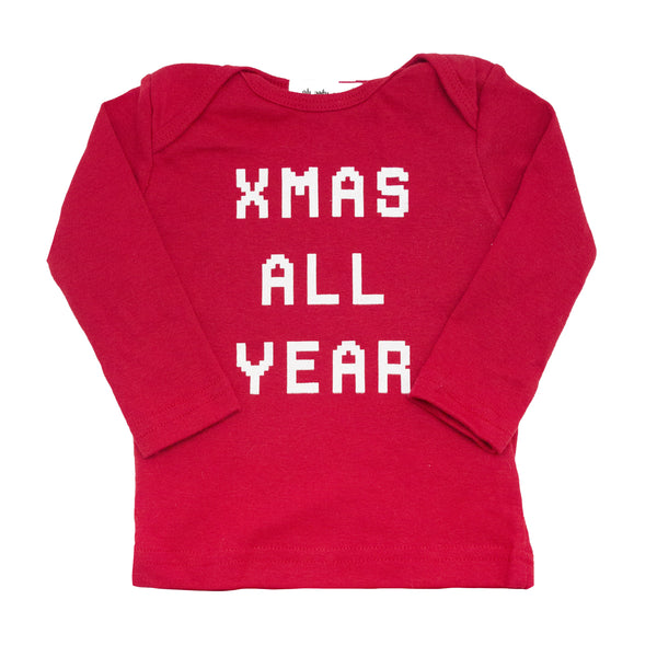 oh baby! Long Sleeve Tee - Xmas All Year - Red