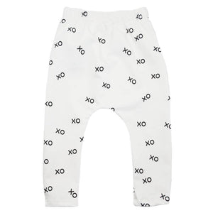 oh baby! NoHo Jogger Pants - All Over XO Black Ink - Cream