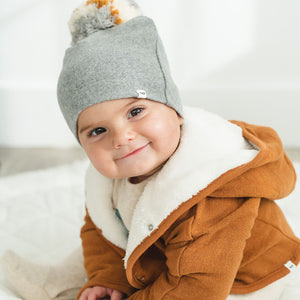 oh baby! Snap Pom Hat Neutral Mix - Coal
