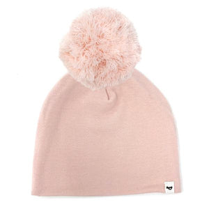 oh baby! Snap Yarn Pom Hat Pale Pink - Pale Pink