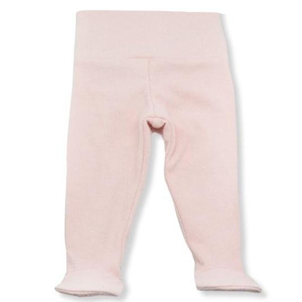 oh baby! Yoga Footie Pant Baby Rib - Pale Pink