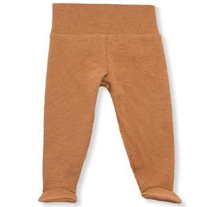 oh baby! Yoga Footie Pant Baby Rib - Rust