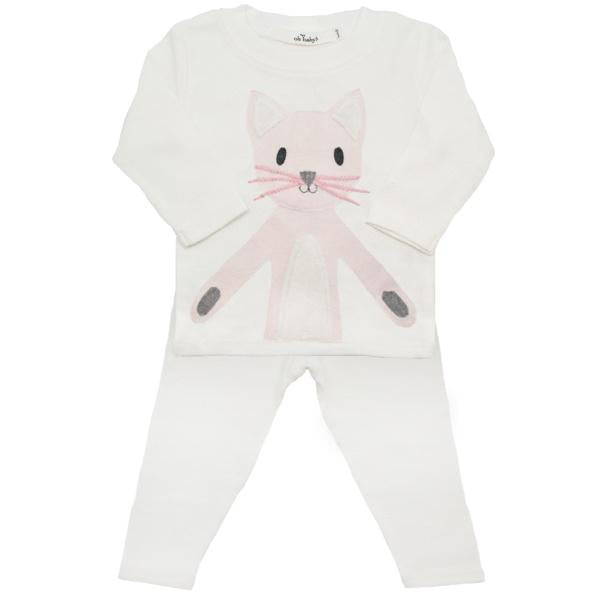 oh baby! Two Piece Set -  Zoey Kitty - Cream
