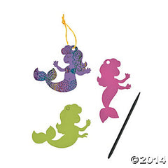 Magic Scratch Colour Mermaids (3pk)