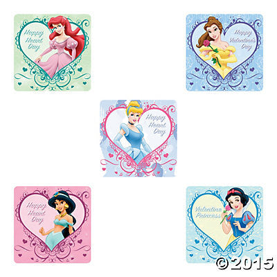 Picture of Disney Princess Valentines Jumbo Stickers 5pack