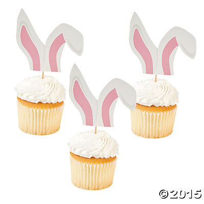 Picture of Bunny Ear Cupcake Picks 3pack