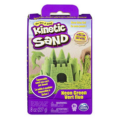 Kinetic Sand 8oz Sand Box: GREEN