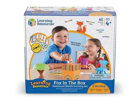 Picture of Fox in the Box Positional Words Activity Set