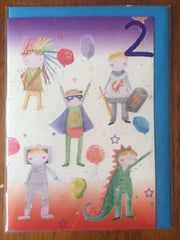Birthday Card - Age 2 Boy Costumes