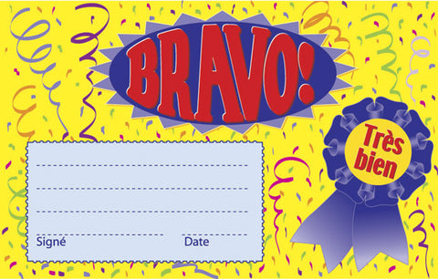 Picture of French Certificate - Bravo